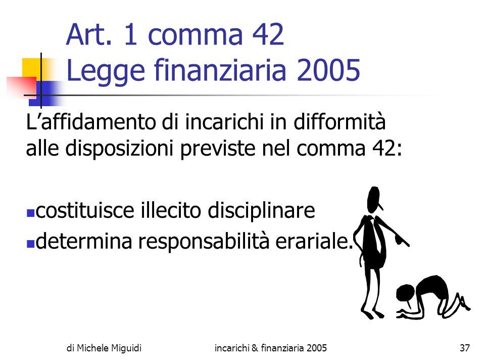 di Michele Miguidiincarichi & finanziaria 200537 Art.