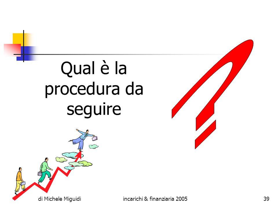 di Michele Miguidiincarichi & finanziaria 200539 Qual è la procedura da seguire
