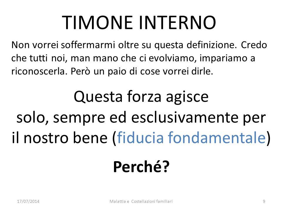 Link e riferimenti http://www.gmontaldo.it?p=12http://www.gmontaldo.it?p=12 (Costellazioni familiari) http://www.gmontaldo.it?p=94http://www.gmontaldo.it?p=94 (La mappa dei talenti) http://www.gmontaldo.it?p=105http://www.gmontaldo.it?p=105 (I Tarocchi) Malattia e Costellazioni familiari8017/07/2014