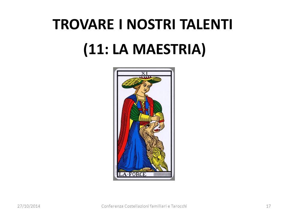 TROVARE I NOSTRI TALENTI (11: LA MAESTRIA) 27/10/2014Conferenza Costellazioni familiari e Tarocchi17