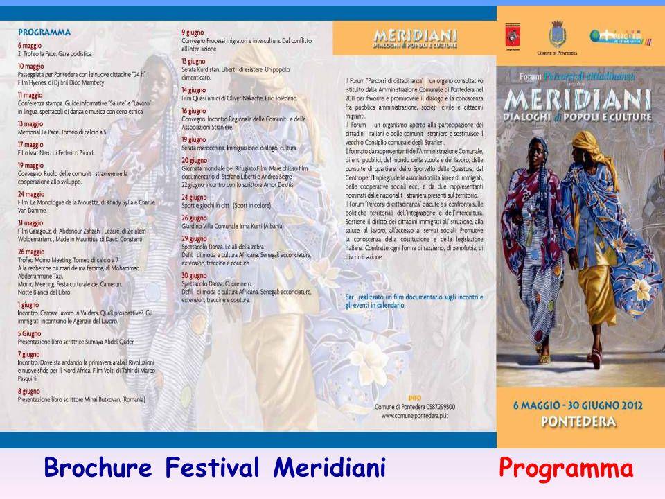 Brochure Festival Meridiani Programma