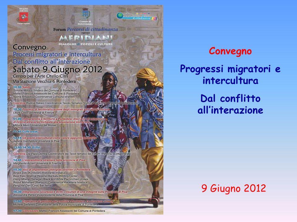 Convegno Progressi migratori e intercultura Dal conflitto all'interazione 9 Giugno 2012