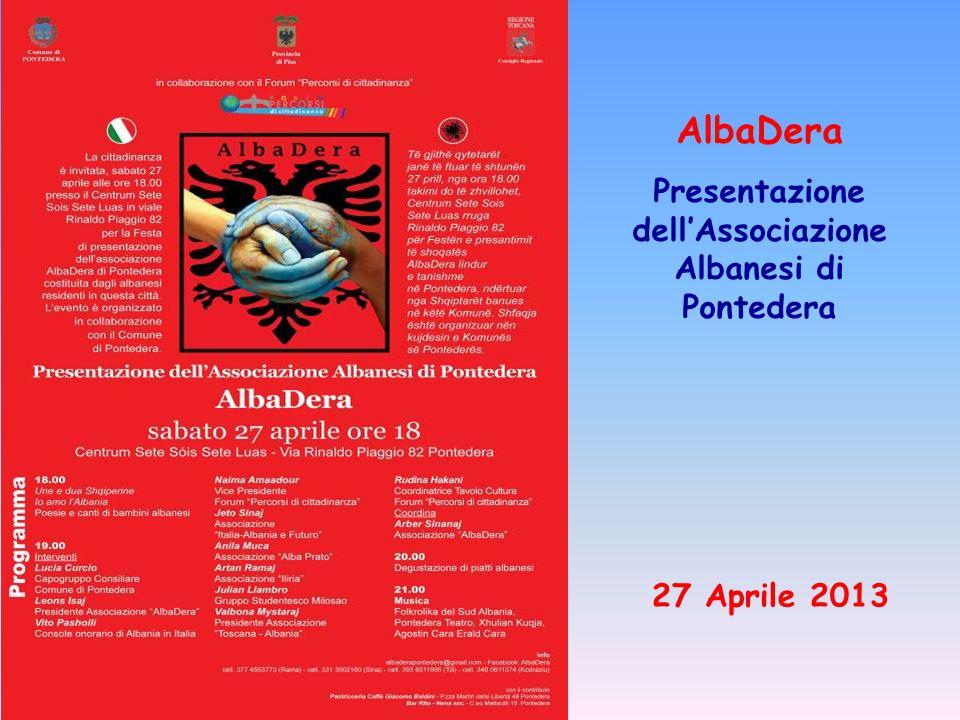 AlbaDera Presentazione dell'Associazione Albanesi di Pontedera 27 Aprile 2013