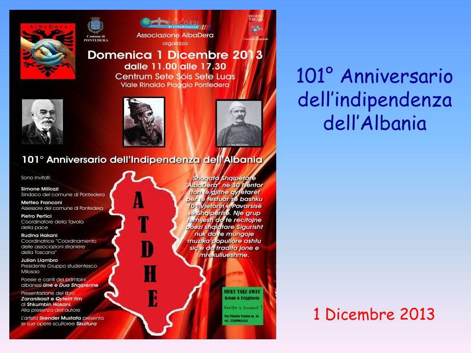 101° Anniversario dell'indipendenza dell'Albania 1 Dicembre 2013