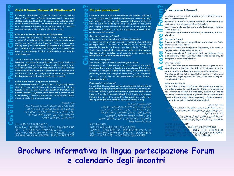 Brochure informativa in 7 lingue Come posso trovare Lavoro? Tavolo Lavoro e formazione
