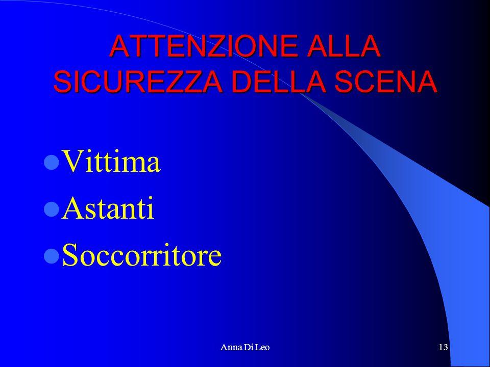 ATTENZIONE ALLA SICUREZZA DELLA SCENA Vittima Astanti Soccorritore Anna Di Leo13