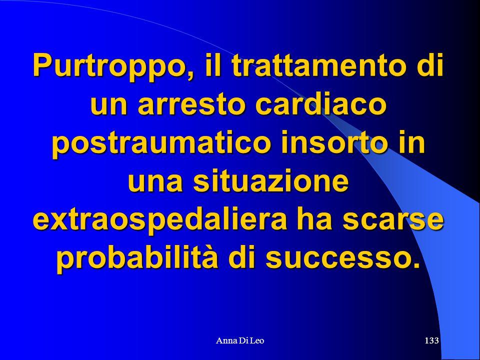 133Anna Di Leo133 Purtroppo, il trattamento di un arresto cardiaco postraumatico insorto in una situazione extraospedaliera ha scarse probabilità di successo.