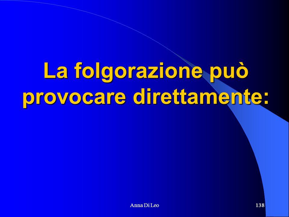 138Anna Di Leo138 La folgorazione può provocare direttamente: