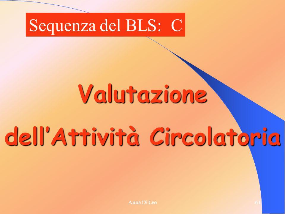 61Anna Di Leo Valutazione dell'Attività Circolatoria Sequenza del BLS: C