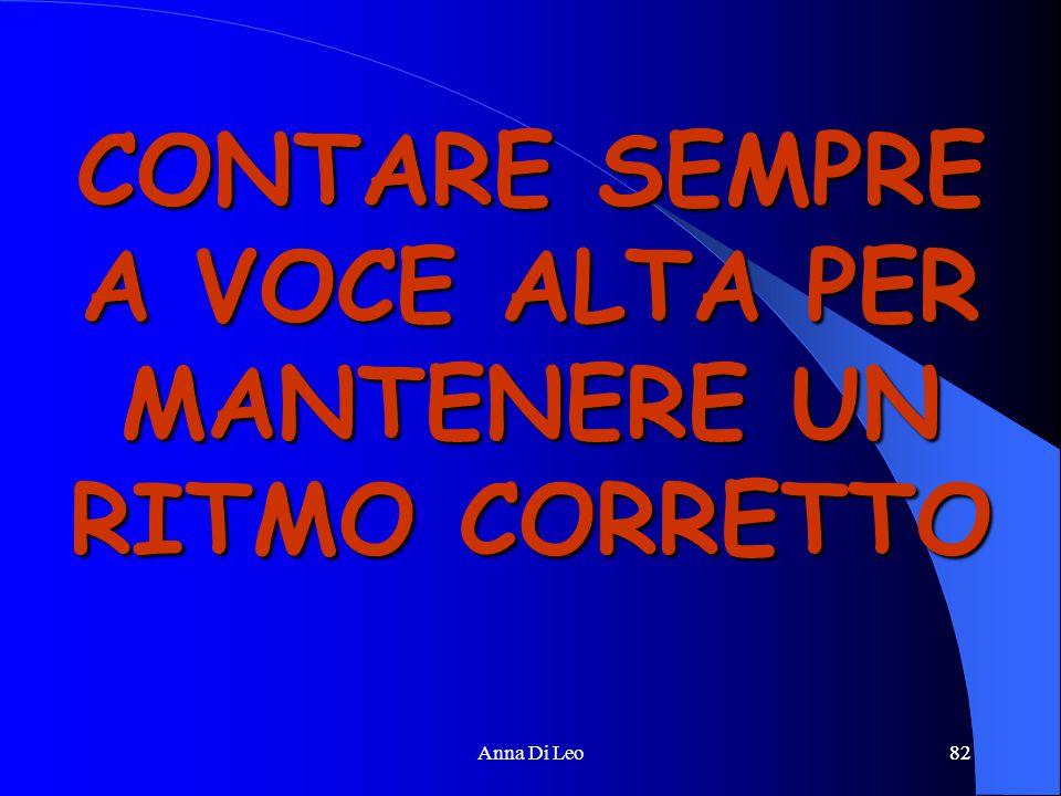 82Anna Di Leo82 CONTARE SEMPRE A VOCE ALTA PER MANTENERE UN RITMO CORRETTO