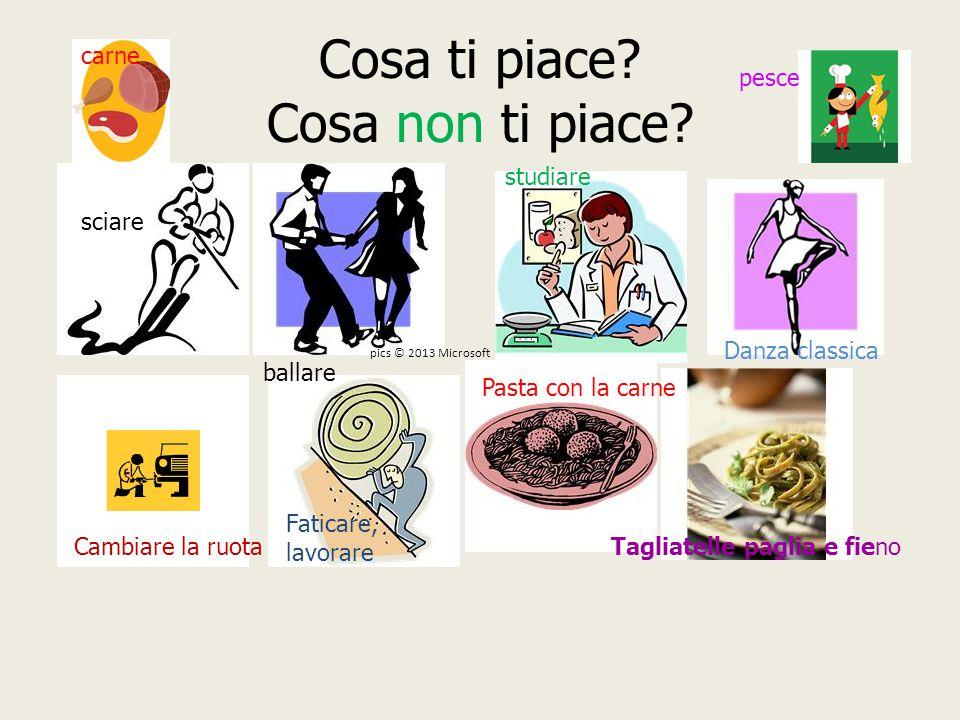Completiamo le frasi con i pronomi:lo, li la, le AMi piace l'Italia.