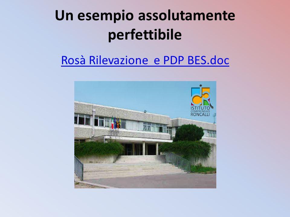Un esempio assolutamente perfettibile Rosà Rilevazione e PDP BES.doc