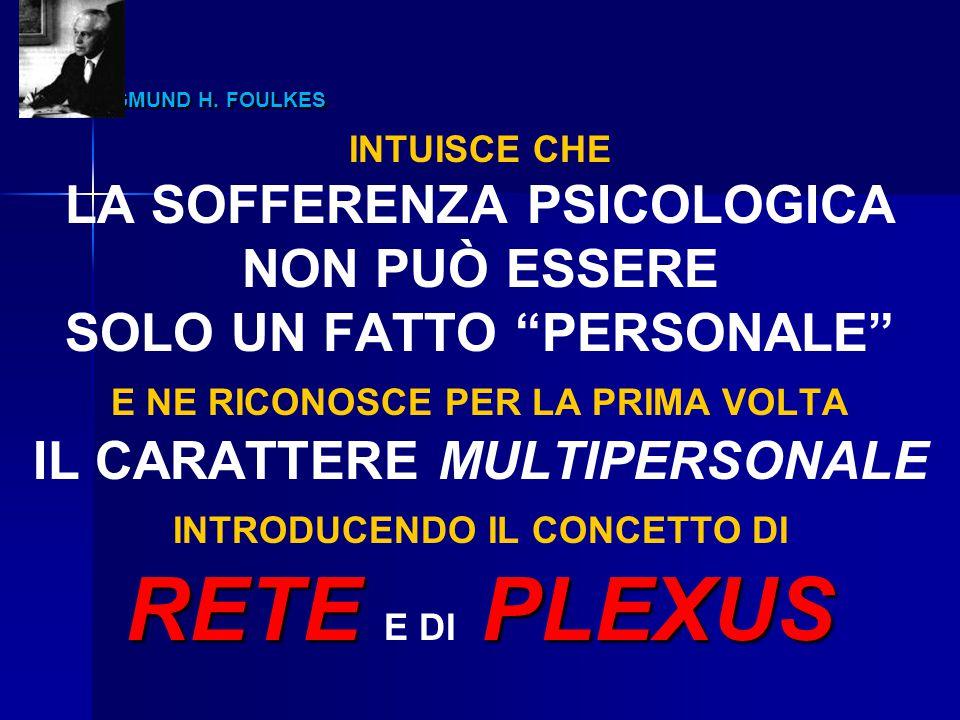 """SIGMUND H. FOULKES SIGMUND H. FOULKES INTUISCE CHE LA SOFFERENZA PSICOLOGICA NON PUÒ ESSERE SOLO UN FATTO """"PERSONALE"""" E NE RICONOSCE PER LA PRIMA VOLT"""