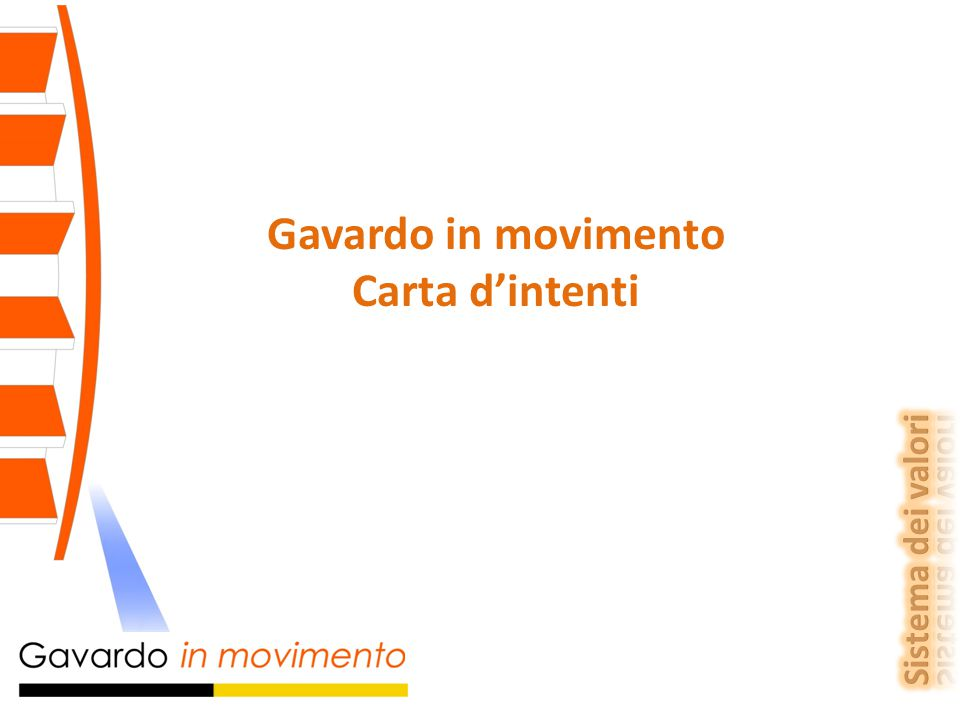 Gavardo in movimento Carta d'intenti