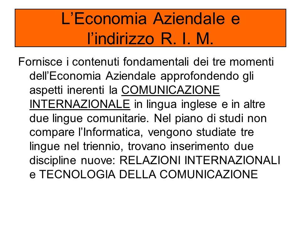 Fornisce i contenuti fondamentali dei tre momenti dell'Economia Aziendale approfondendo gli aspetti inerenti la COMUNICAZIONE INTERNAZIONALE in lingua