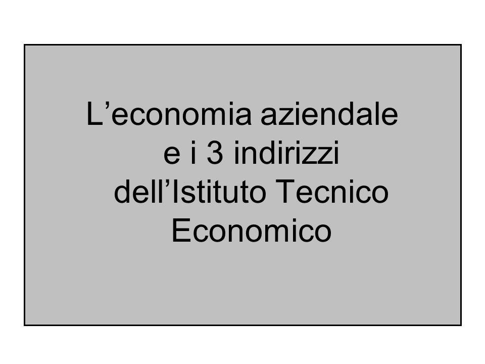 L'economia aziendale e i 3 indirizzi dell'Istituto Tecnico Economico