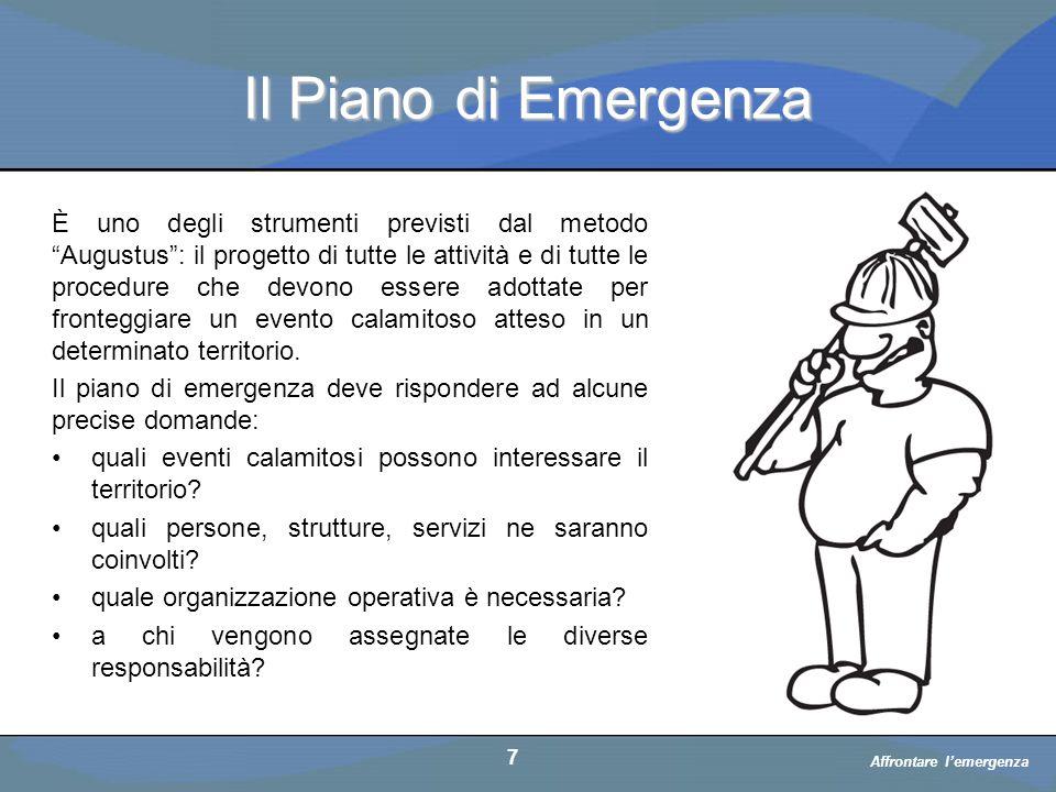 Affrontare l'emergenza a cura di D.
