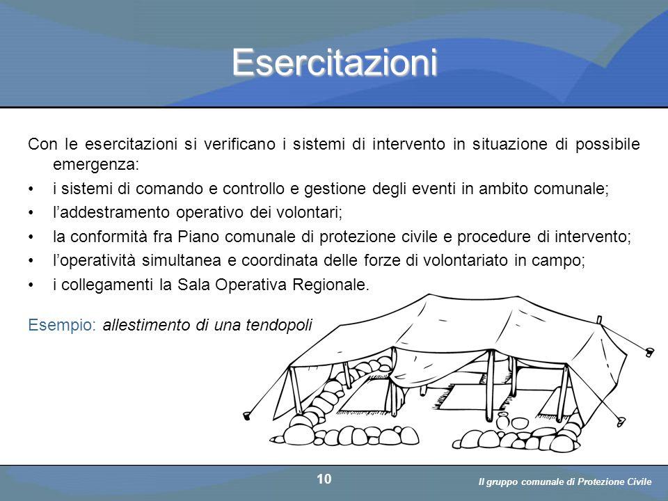 Il volontario: diritti, doveri, responsabiità a cura di D. Bellè Laboratorio e-Learning (LabeL) Università di Udine 10 Esercitazioni Con le esercitazi
