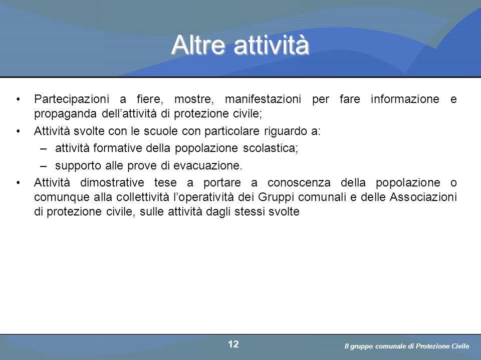 Il volontario: diritti, doveri, responsabiità a cura di D. Bellè Laboratorio e-Learning (LabeL) Università di Udine 12 Altre attività Partecipazioni a