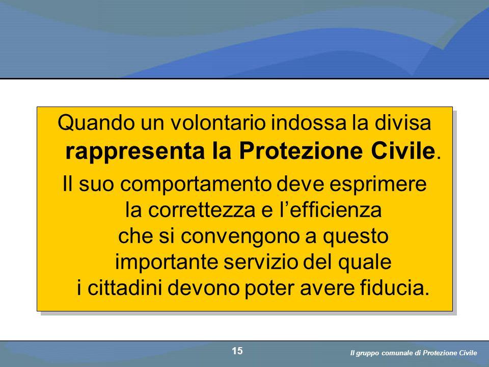Il volontario: diritti, doveri, responsabiità a cura di D. Bellè Laboratorio e-Learning (LabeL) Università di Udine 15 Quando un volontario indossa la