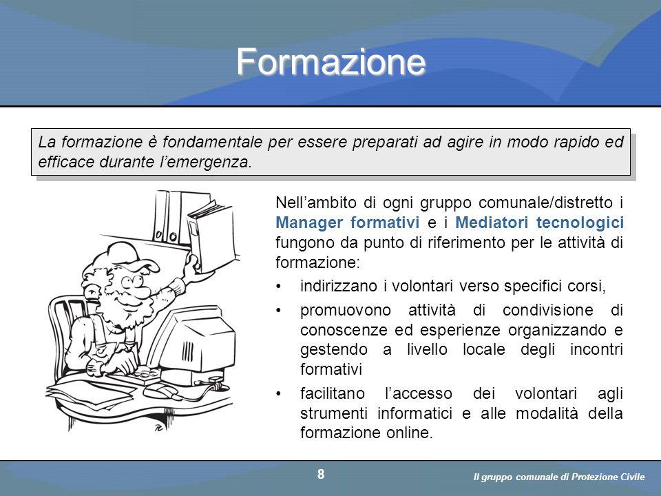 Il volontario: diritti, doveri, responsabiità a cura di D. Bellè Laboratorio e-Learning (LabeL) Università di Udine 8 Formazione Nell'ambito di ogni g