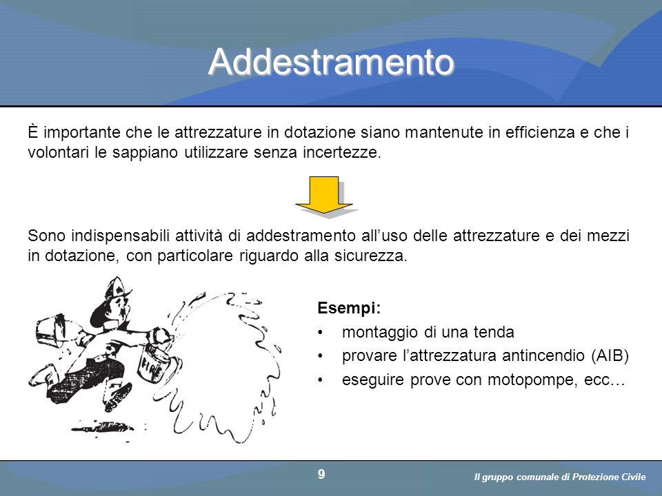 Il volontario: diritti, doveri, responsabiità a cura di D. Bellè Laboratorio e-Learning (LabeL) Università di Udine 9 Addestramento Esempi: montaggio