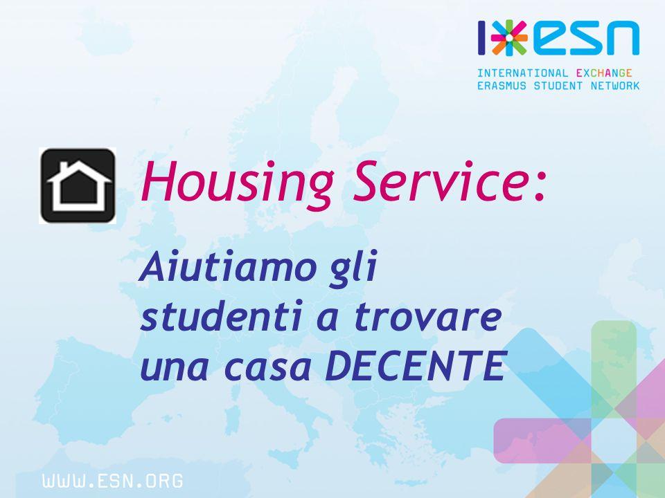 Housing Service: Aiutiamo gli studenti a trovare una casa DECENTE