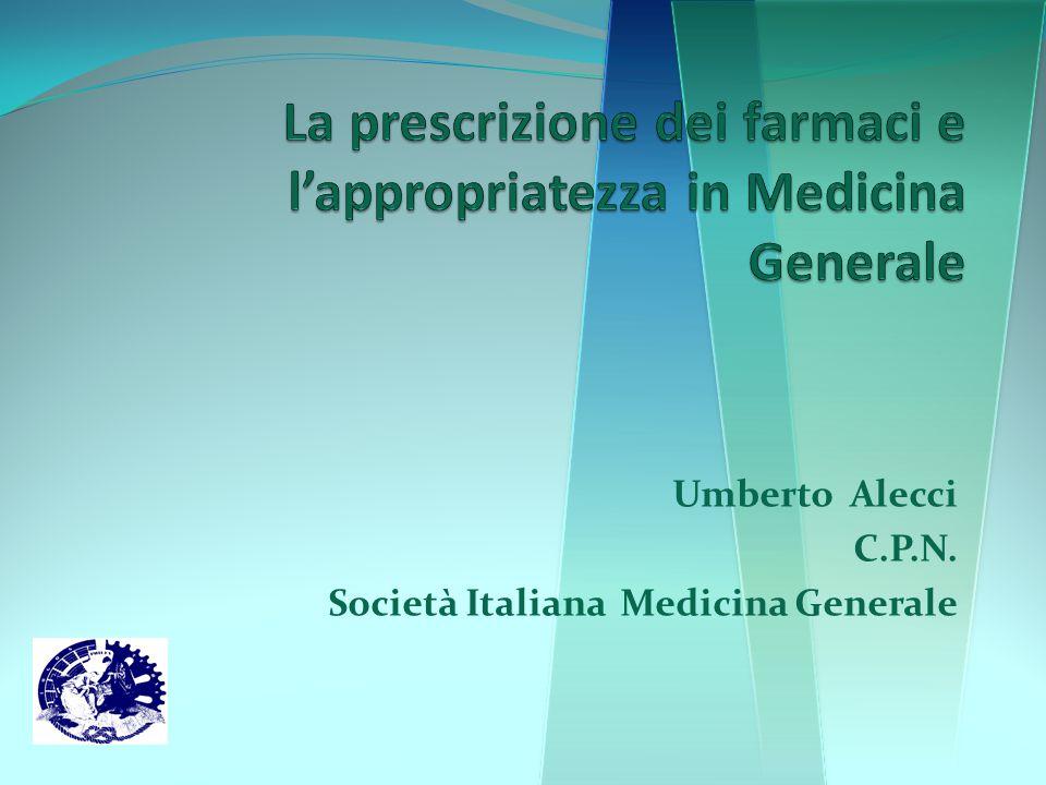 Umberto Alecci C.P.N. Società Italiana Medicina Generale