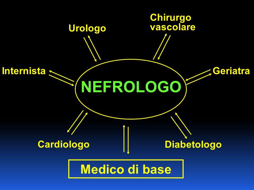 Medico di base Diabetologo Cardiologo Internista Chirurgo vascolare Urologo Geriatra NEFROLOGO