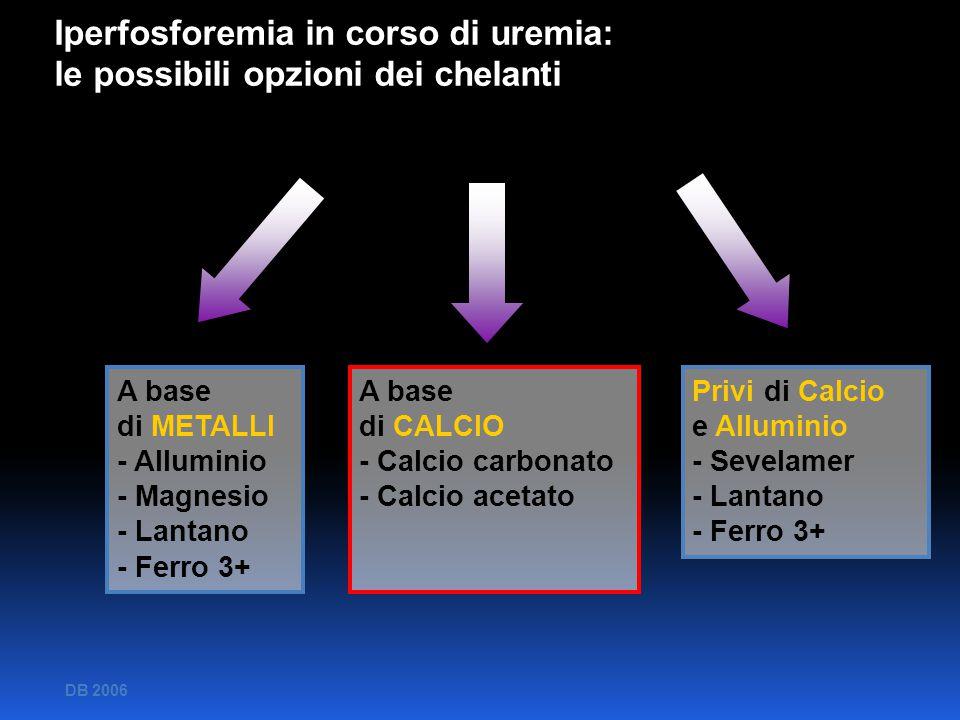 Iperfosforemia in corso di uremia: le possibili opzioni dei chelanti Iperfosforemia in corso di uremia: le possibili opzioni dei chelanti A base di ME