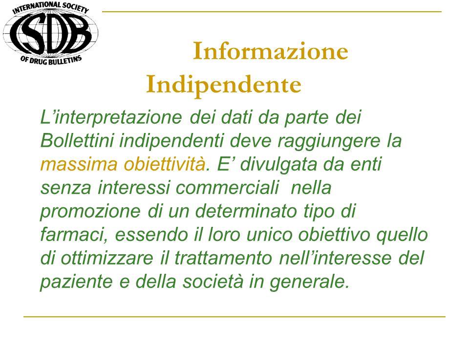 Informazione Indipendente L'interpretazione dei dati da parte dei Bollettini indipendenti deve raggiungere la massima obiettività.