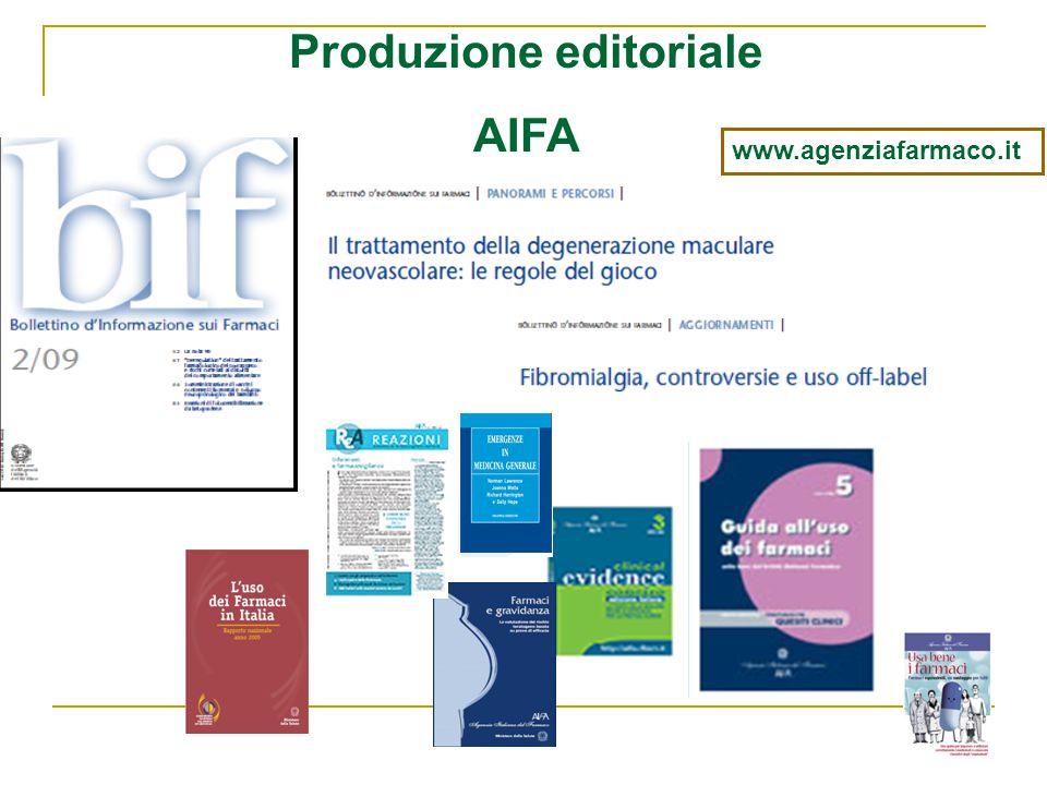 Produzione editoriale AIFA www.agenziafarmaco.it