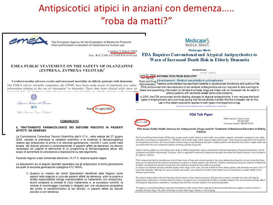 Antipsicotici atipici in anziani con demenza….. roba da matti