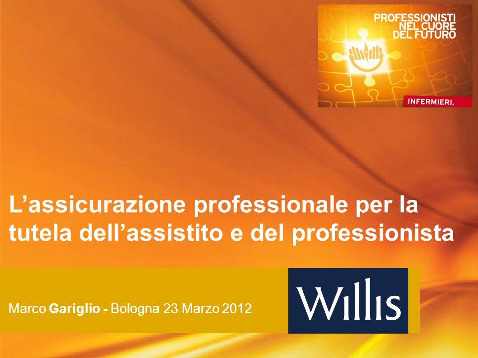 L'assicurazione professionale per la tutela dell'assistito e del professionista Marco Gariglio - Bologna 23 Marzo 2012