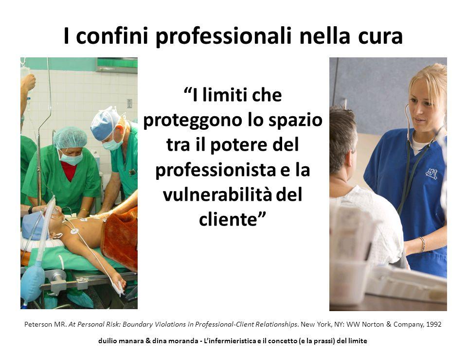 """duilio manara & dina moranda - L'infermieristica e il concetto (e la prassi) del limite """"I limiti che proteggono lo spazio tra il potere del professio"""