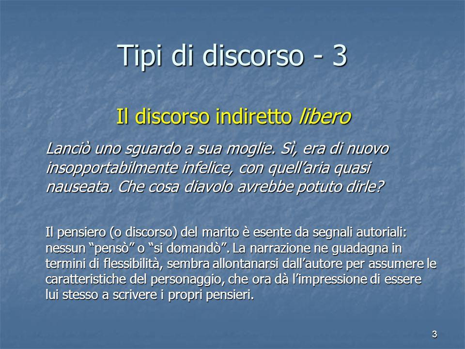 4 Tipi di discorso - 4 Il flusso di coscienza Le lanciò uno sguardo.