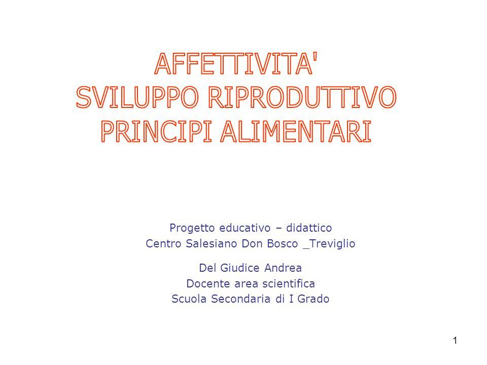 1 Progetto educativo – didattico Centro Salesiano Don Bosco _Treviglio Del Giudice Andrea Docente area scientifica Scuola Secondaria di I Grado