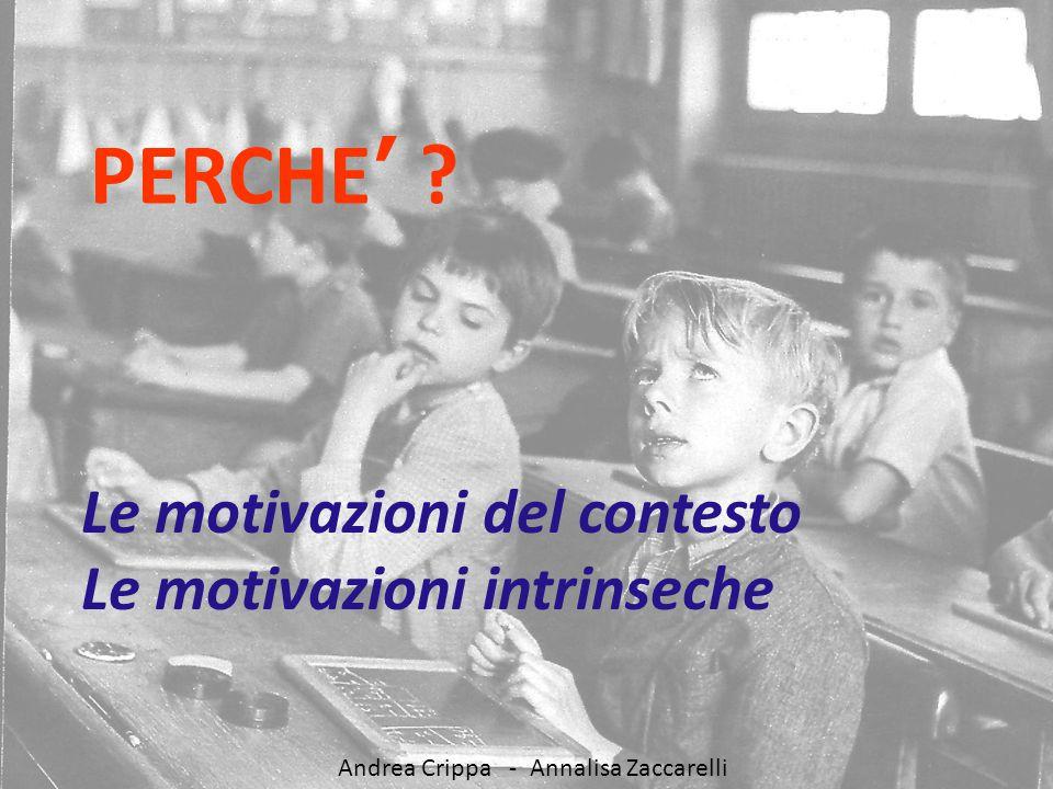 Andrea Crippa - A scuola di competenze PERCHE' ? Le motivazioni del contesto Le motivazioni intrinseche Andrea Crippa - Annalisa Zaccarelli