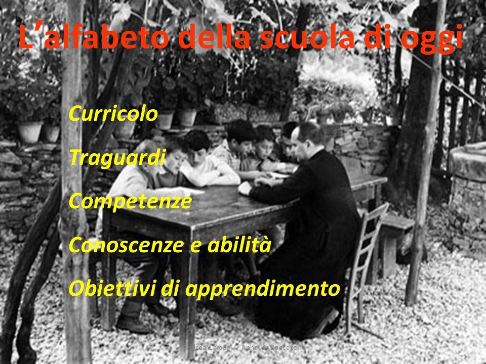 Andrea Crippa - Annalisa Zaccarelli L'alfabeto della scuola di oggi Curricolo Traguardi Competenze Conoscenze e abilità Obiettivi di apprendimento