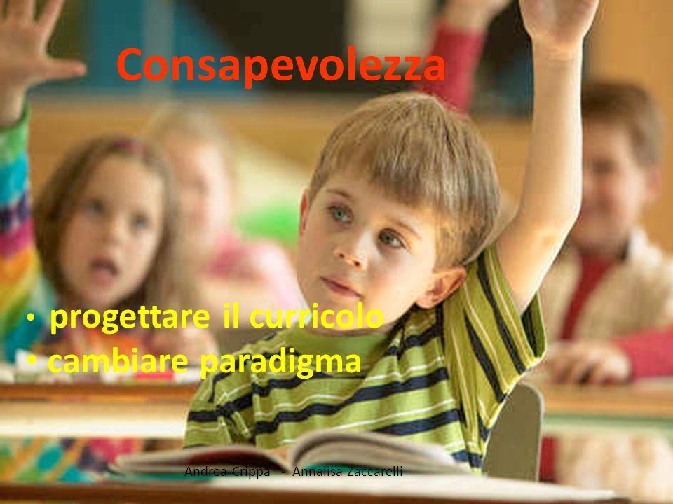 Andrea Crippa - Annalisa Zaccarelli Consapevolezza progettare il curricolo cambiare paradigma