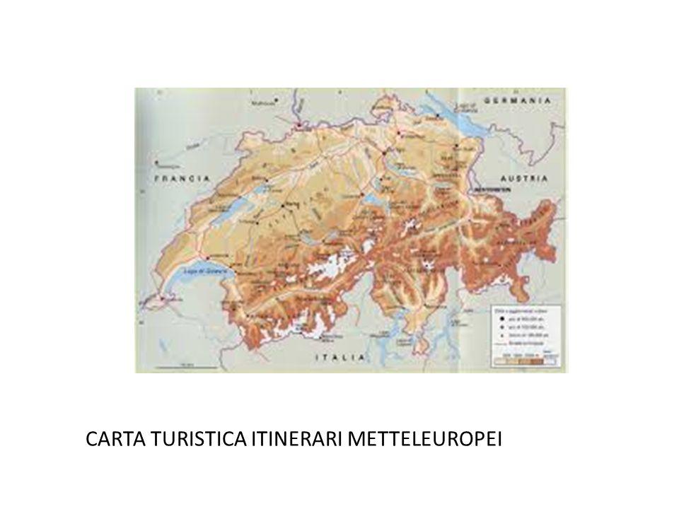 CARTA TURISTICA ITINERARI METTELEUROPEI