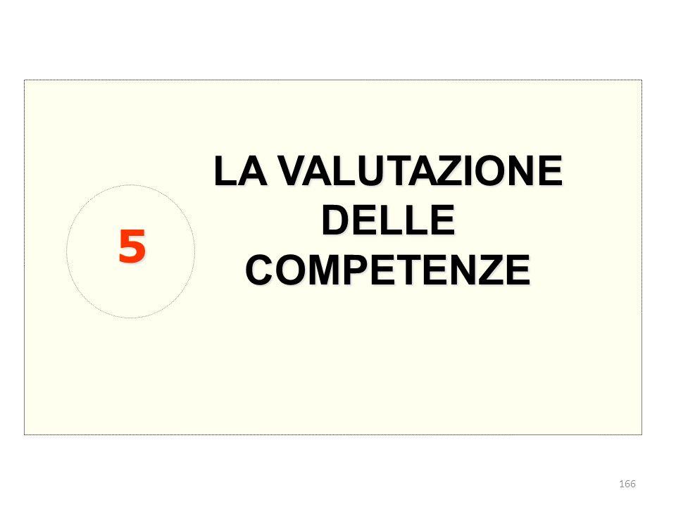 166 LA VALUTAZIONE DELLE COMPETENZE 5