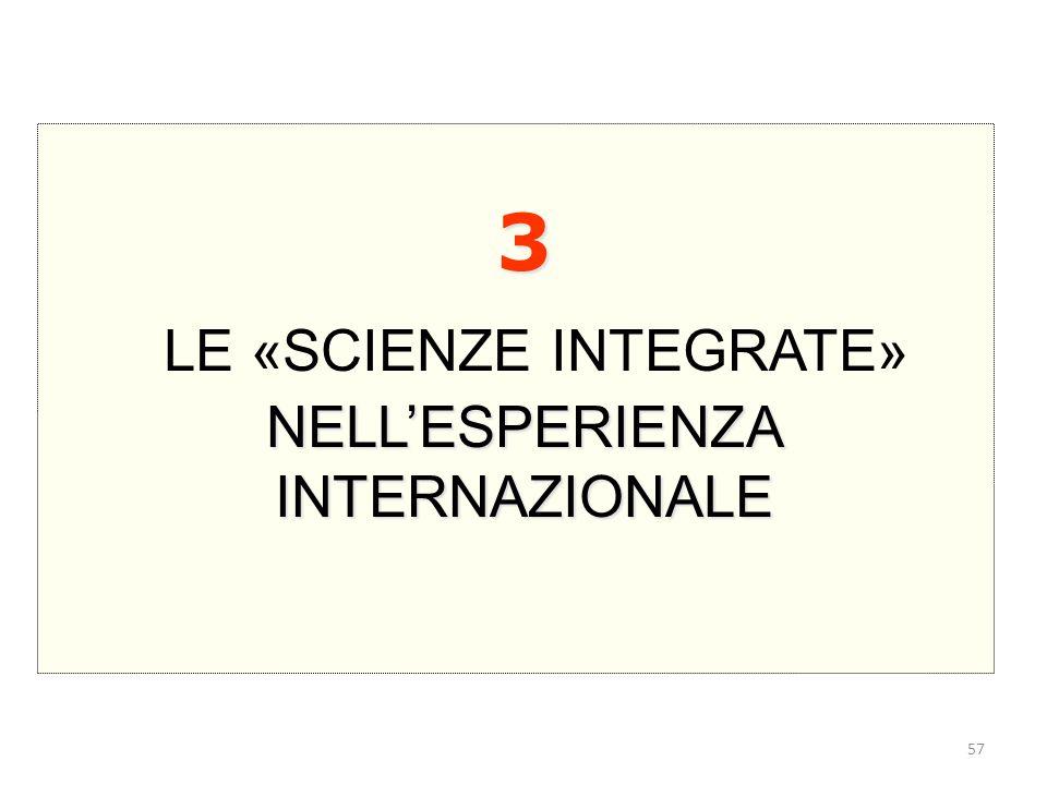 3 LE «SCIENZE INTEGRATE» NELL'ESPERIENZA INTERNAZIONALE 57