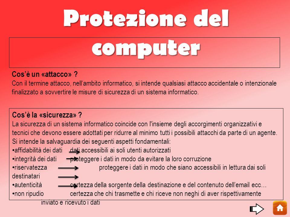 Protezione del computer Cos'è un «attacco» .