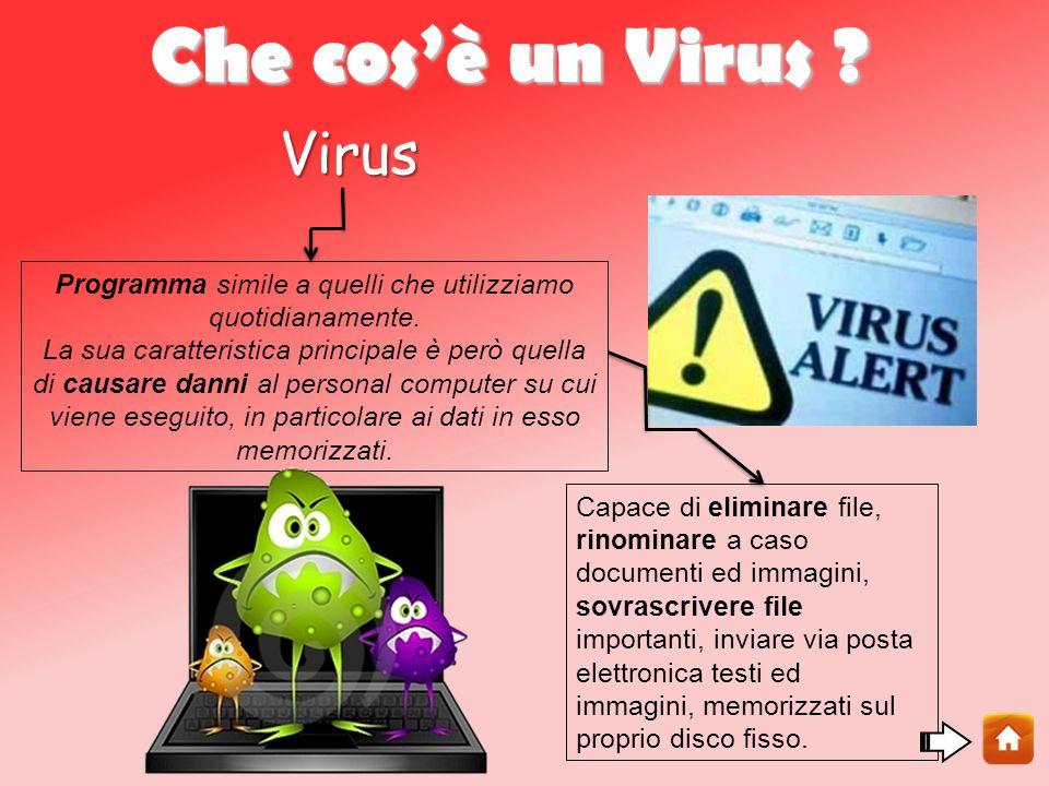 Che cos'è un Virus .Virus Programma simile a quelli che utilizziamo quotidianamente.