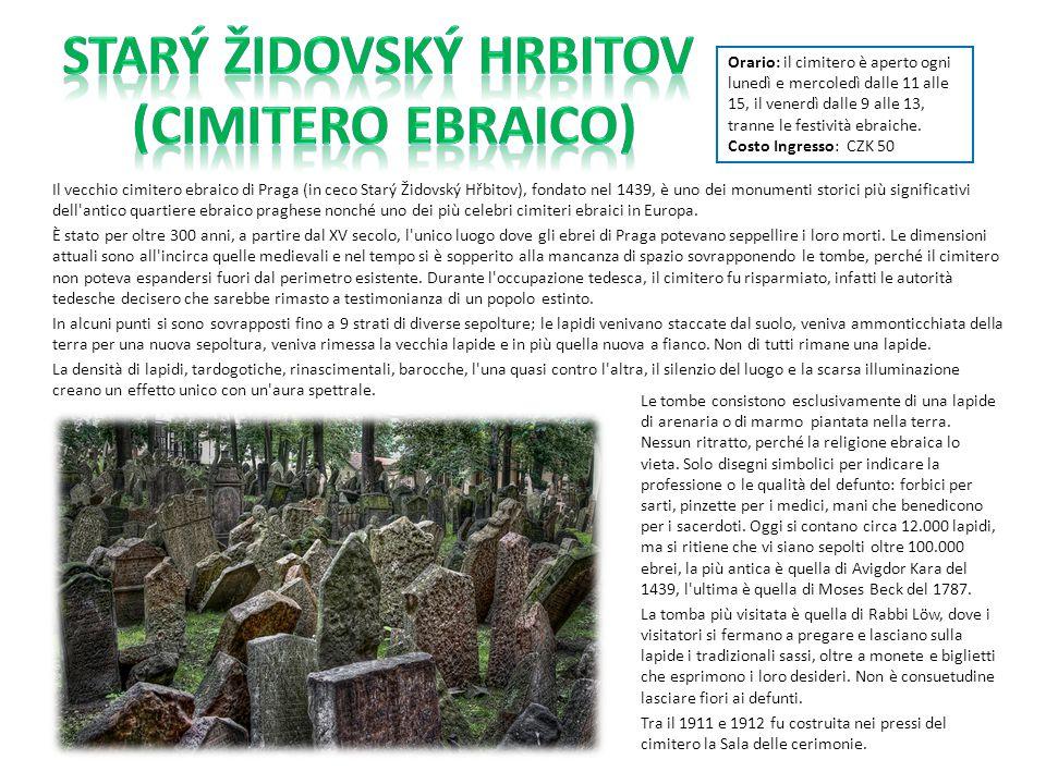 Il vecchio cimitero ebraico di Praga (in ceco Starý Židovský Hřbitov), fondato nel 1439, è uno dei monumenti storici più significativi dell'antico qua