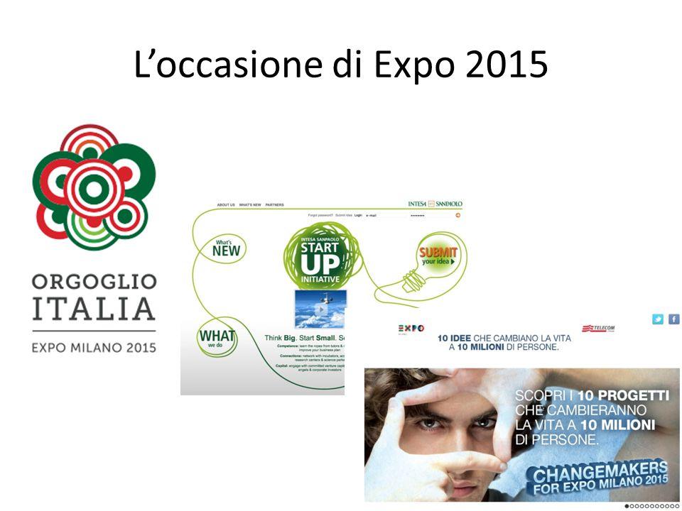 #EXPOTTIMISTI Energie Positive + Occasione Expo Storie che raccontano la nuova ITALIA