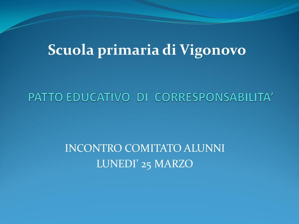 INCONTRO COMITATO ALUNNI LUNEDI' 25 MARZO Scuola primaria di Vigonovo
