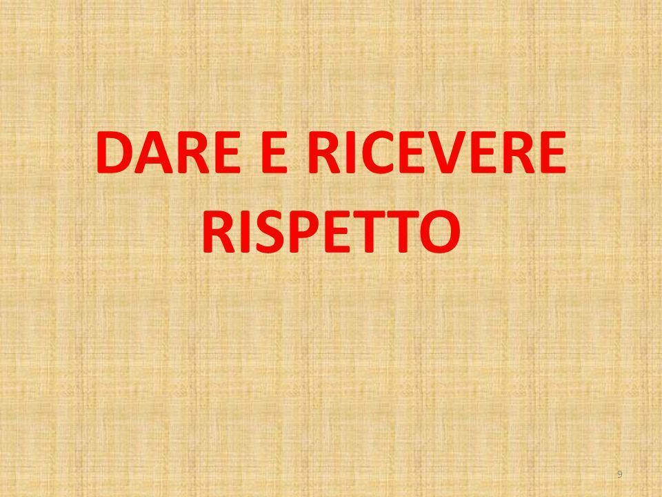 DARE E RICEVERE RISPETTO 9