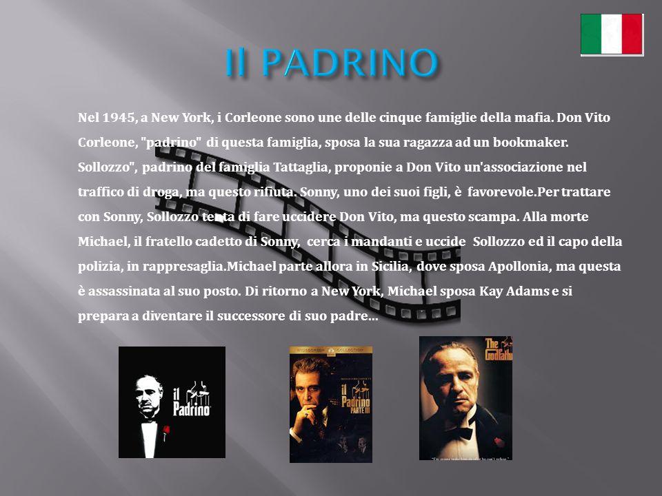 Nel 1945, a New York, i Corleone sono une delle cinque famiglie della mafia. Don Vito Corleone,